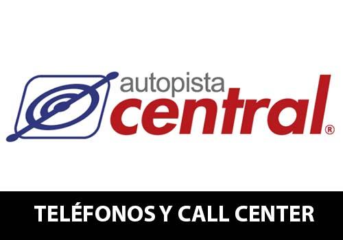 Autopista Central telefono atención al cliente