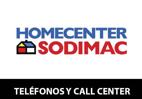 Teléfono Sodimac (HomeCenter)